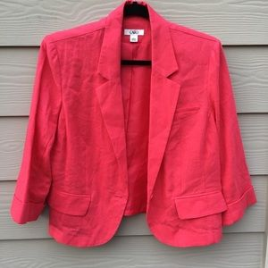 CATO Red Linen Jacket L